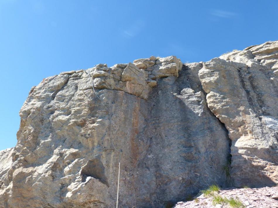sortie du rocher blanc (via sportive) en vue !
