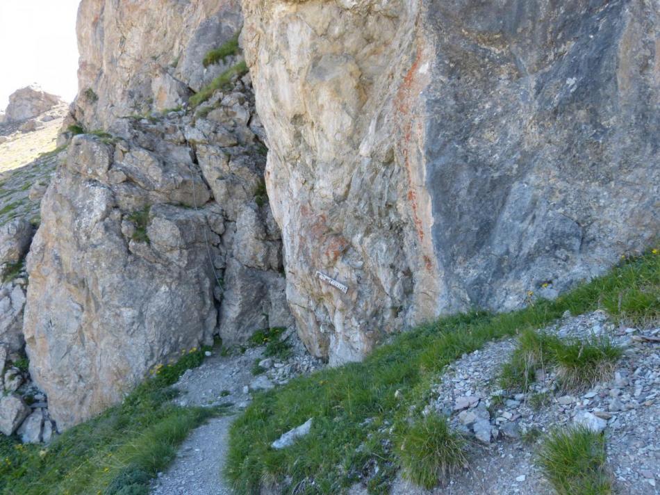 départ de la via facile du rocher blanc
