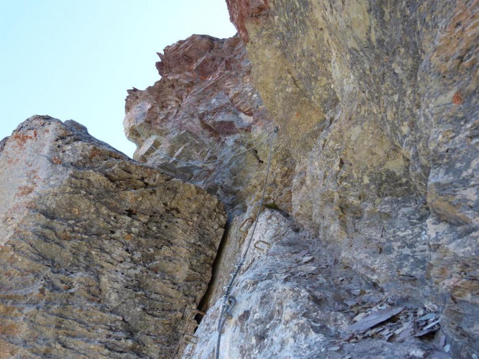 approche de la partie terminale (rocher blanc,la facile)