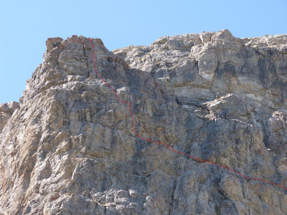 Itinéraire qui mène au sommet de la via du rocher blanc (Serre Chevalier)