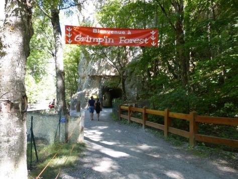 accès au parc aventure du parc de la Schappe