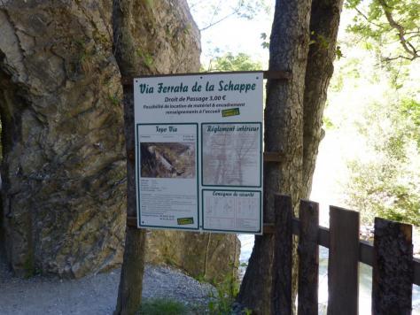 la via ferrata de la Schappe (panneau d'info)