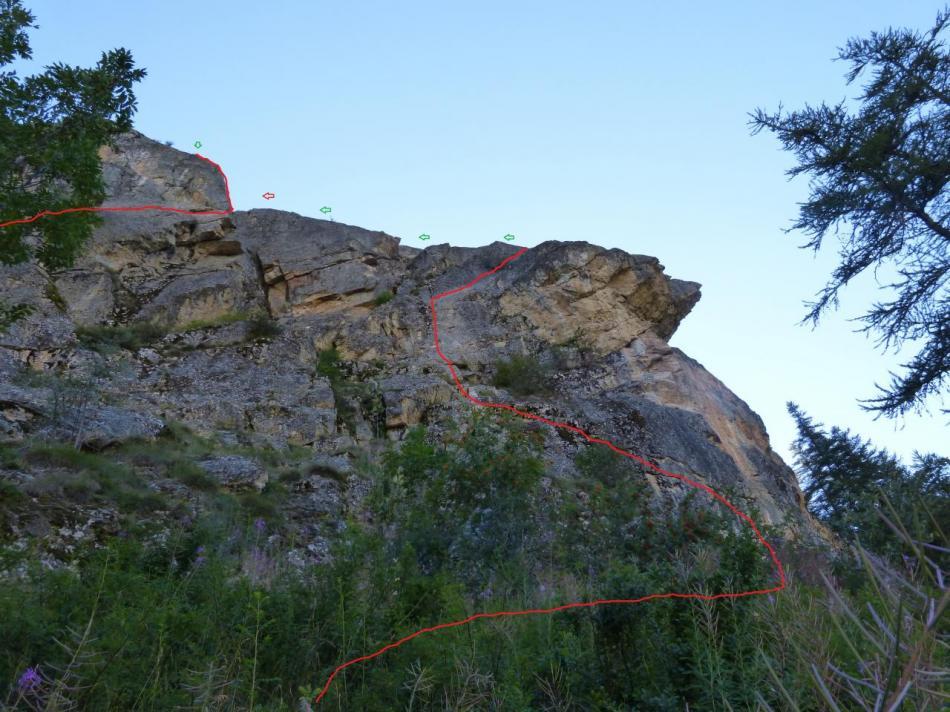 itineraire via du rocher du bez (parcours 1)