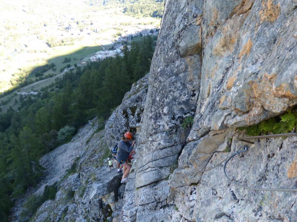 la fin de la descente de la via ferrta du rocher du Bez