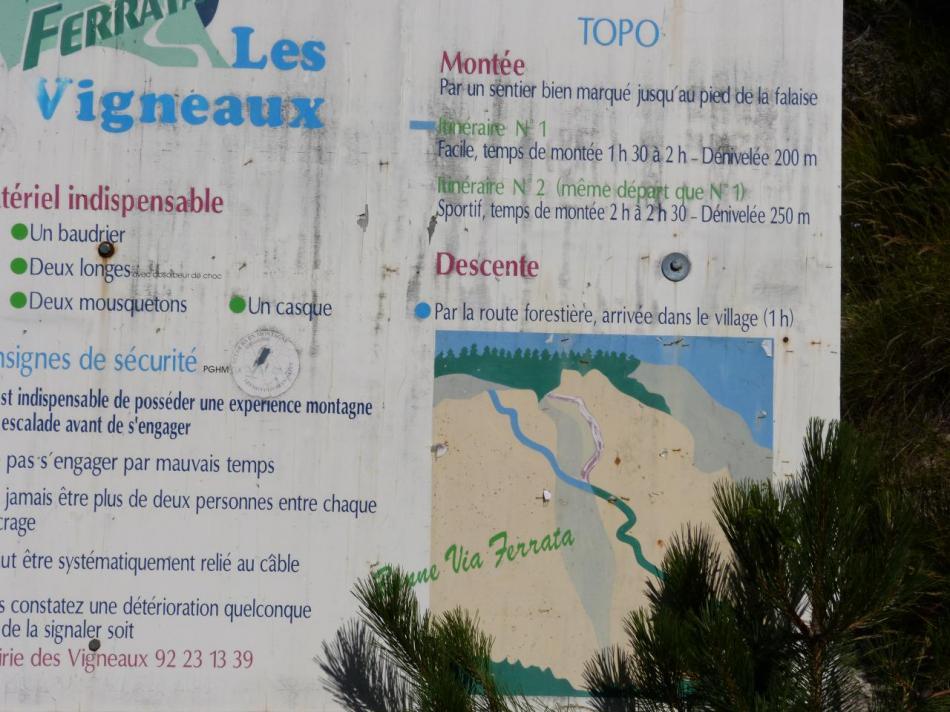 panneau d'info de la via des Vigneaux