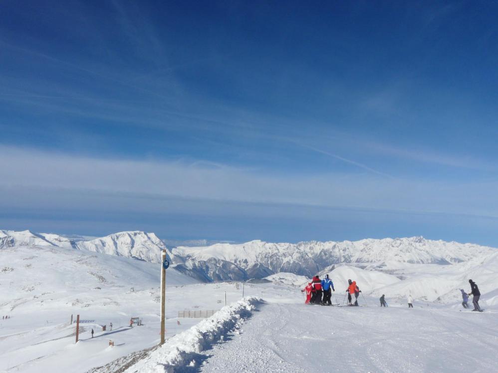 Les pistes à partir du glacier aux 2 Alpes