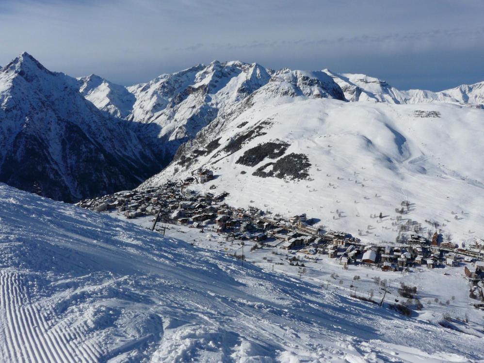 La station des 2 Alpes vue depuis le haut