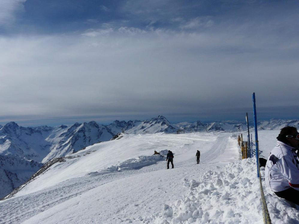 En haut du glacier aux 2 Alpes !