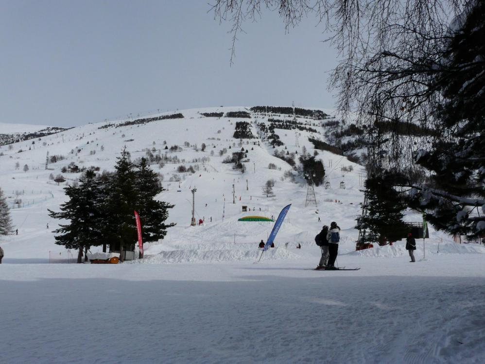 Le bas des pistes des 2 Alpes
