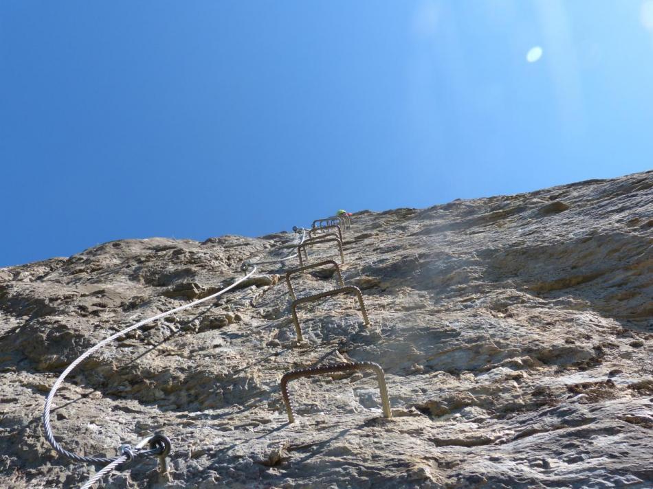 le dernier mur de la voie de la Balme aux Vigneaux