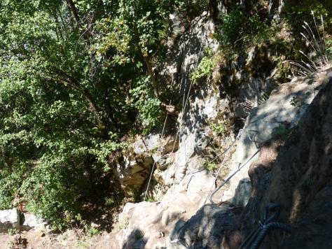premier pont de singe (via de Pelvoux les Claux)