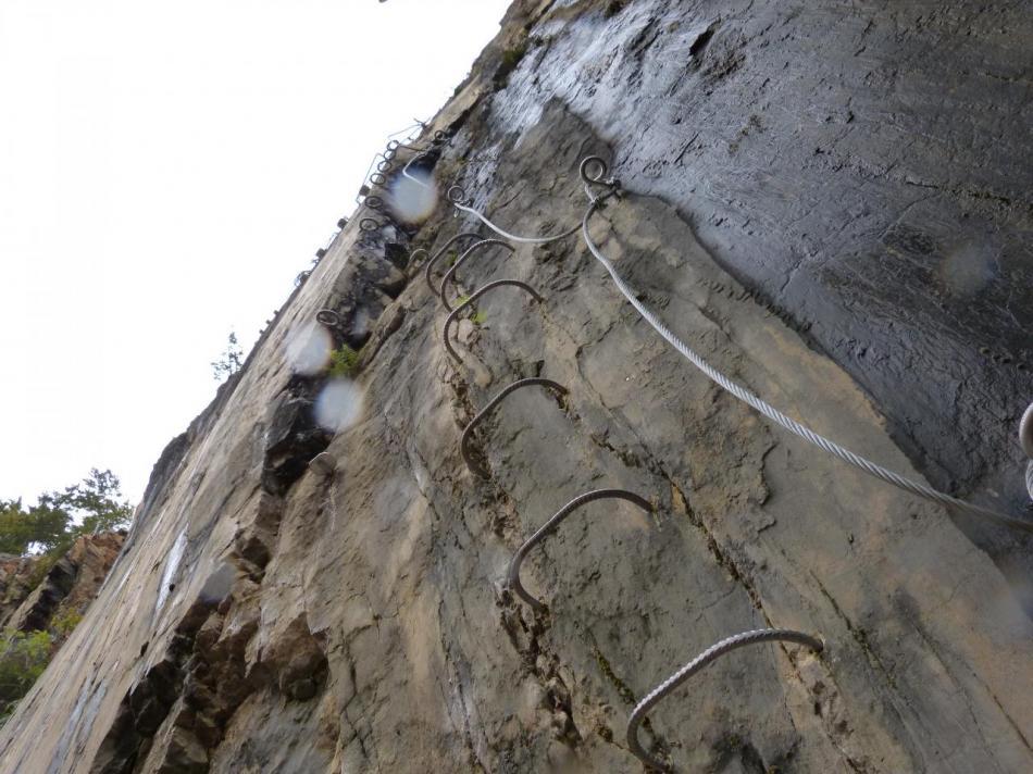 le mur vertical de la variante athlétique à Morez