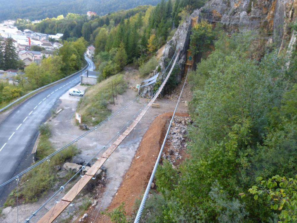 les nouvelles installations de la via ferrata du rocher au Dade à Morez