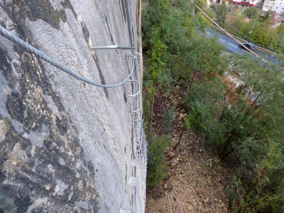 le mur de la variante athlétique vu d' en haut