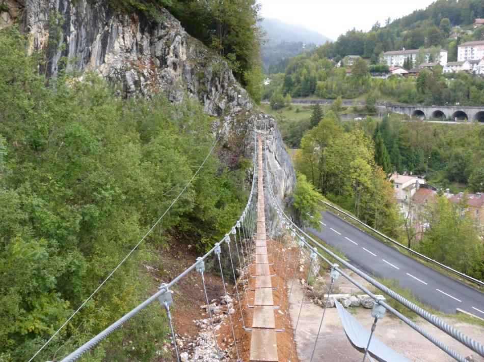 grande passerelle - parcours ludique via de Morez