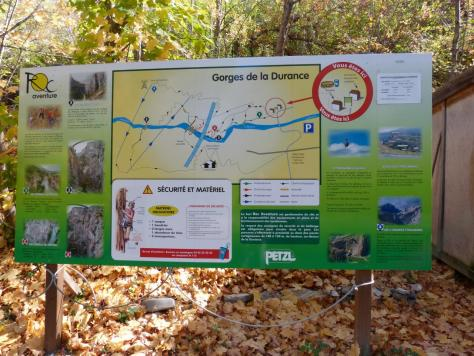 plan de situation via des gorges de la Durance
