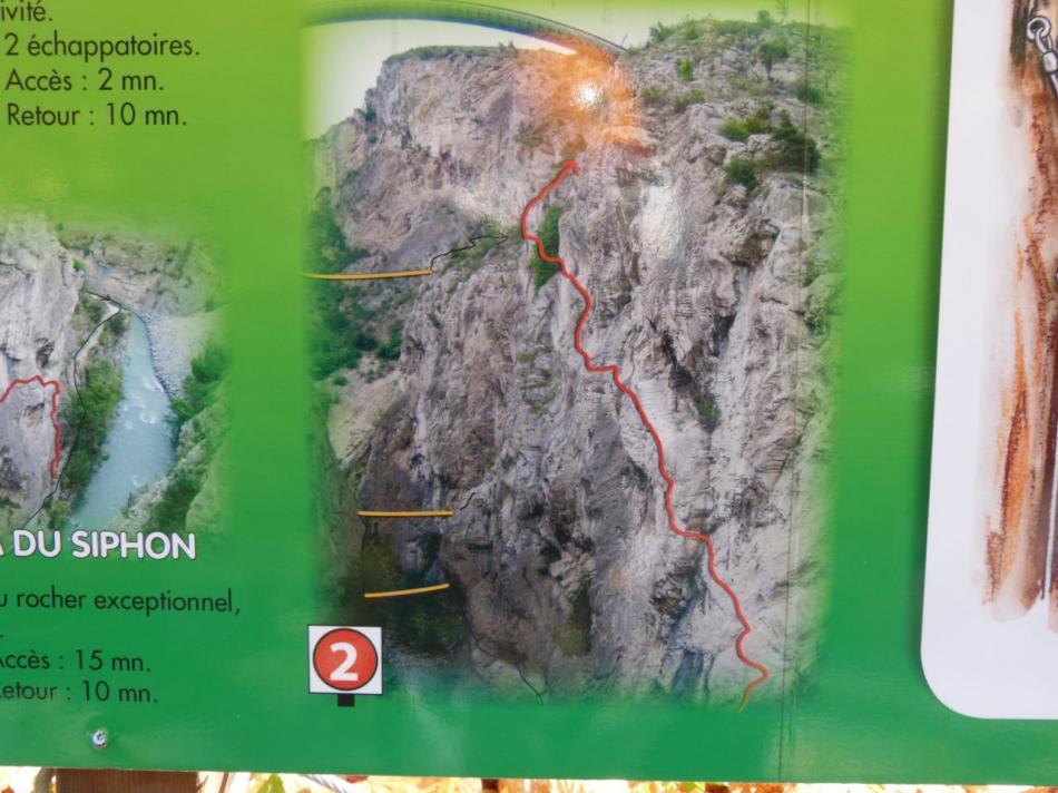 parcours rouge, la via du siphon (gorges de la Durance)