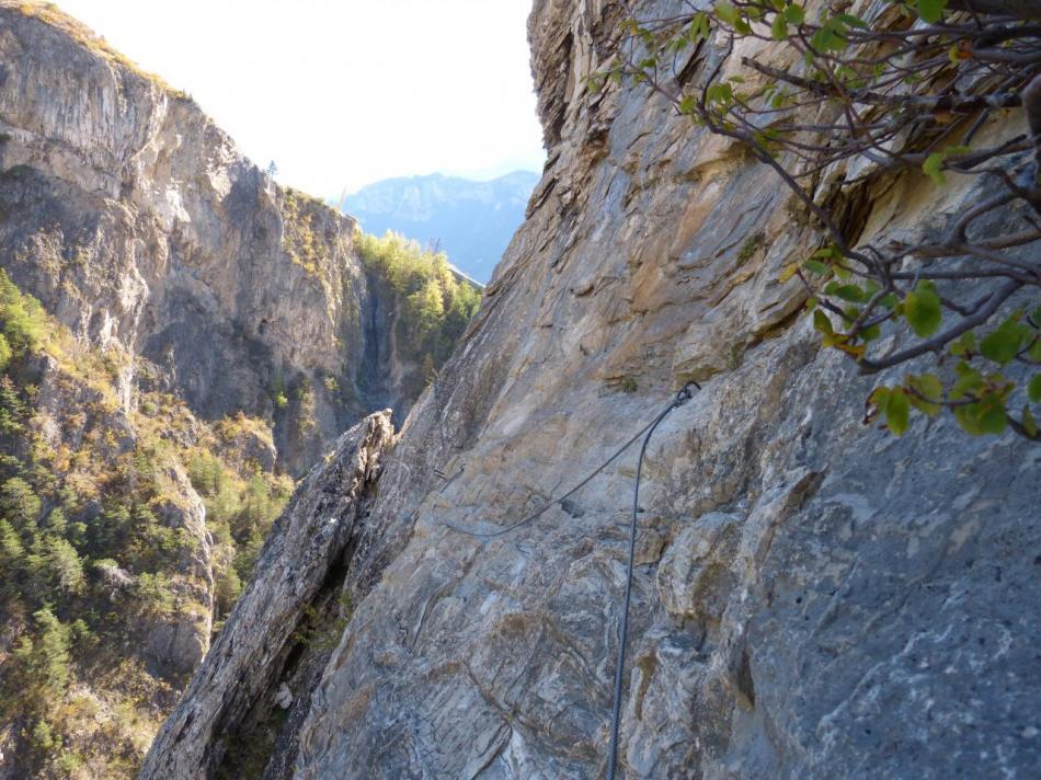 traversée en appuis naturels, via des gorges de la Durance (la noire)