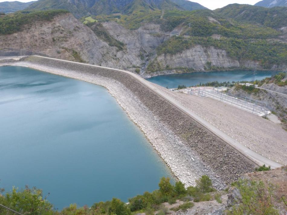 le barrage de Serre Ponçon
