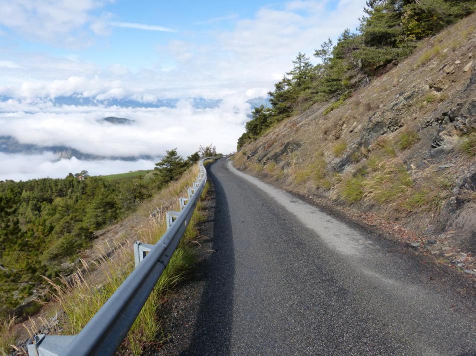 derniers km de la montée du Mont Colombis