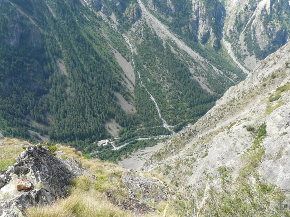 La sortie de la via ferrata des Mines du Grand Clôt