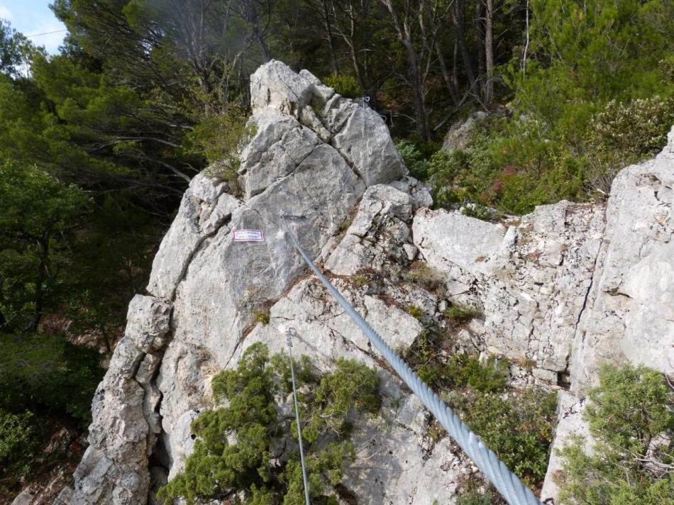 le pont de singe qui suit le passage de la poutre (la pitchoune à Buis)