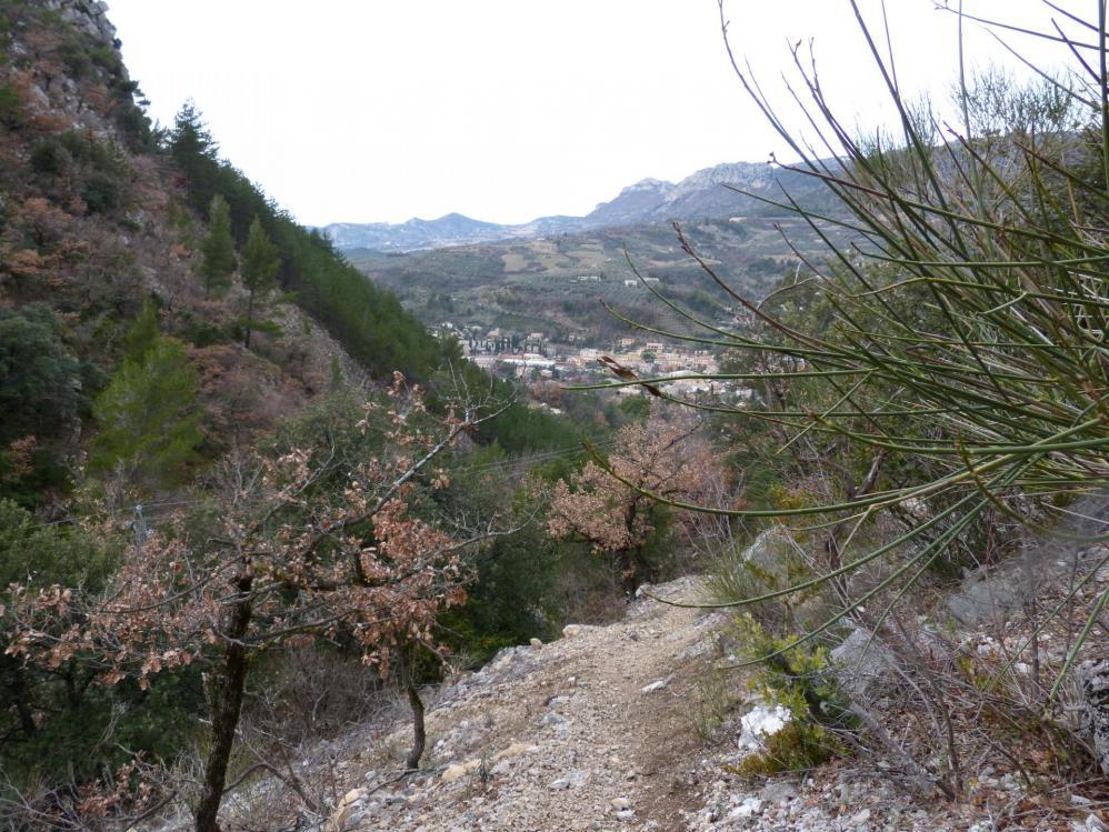 """à mi chemin sur le sentier de montée """"Pitchouno"""" vers """"Testouriasso"""""""
