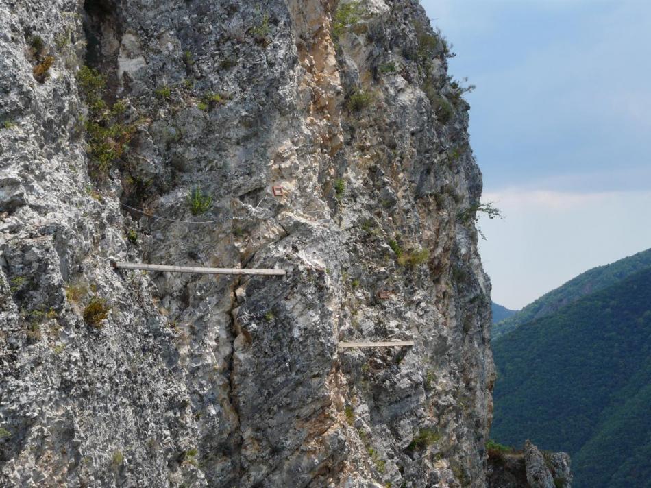 les poutres de la deuxième partie de la via de Digne