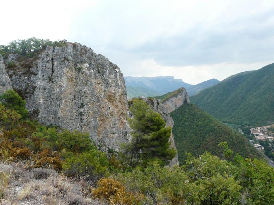la deuxième partie de la via ferrata du rocher de neuf heures à Digne