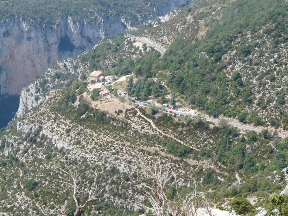 Route des cêtes (Gorges du verdon), le chalet de la Maline