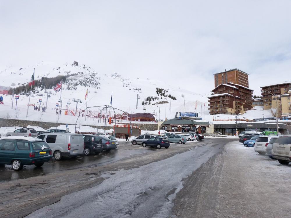 Station de ski d' Orcières Merlette - bas des pistes