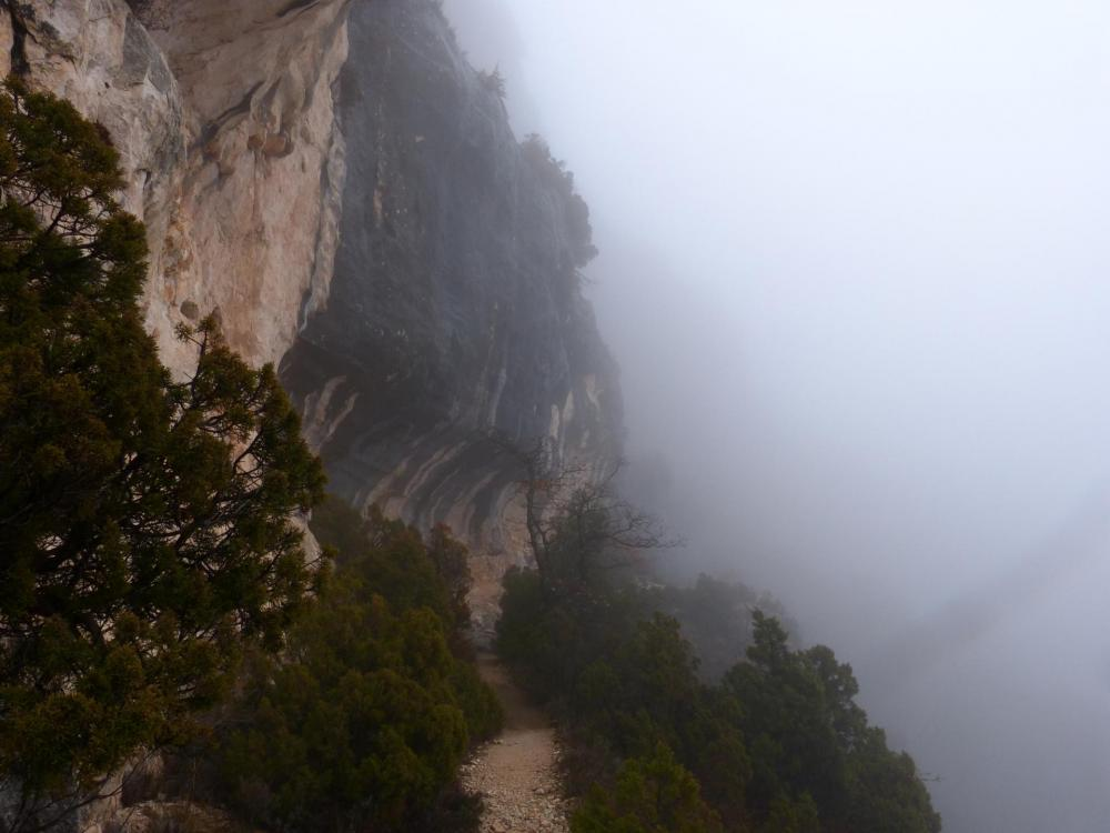 descente dans les gorges de la Nesque, on retrouve un sentier plus agréable  !