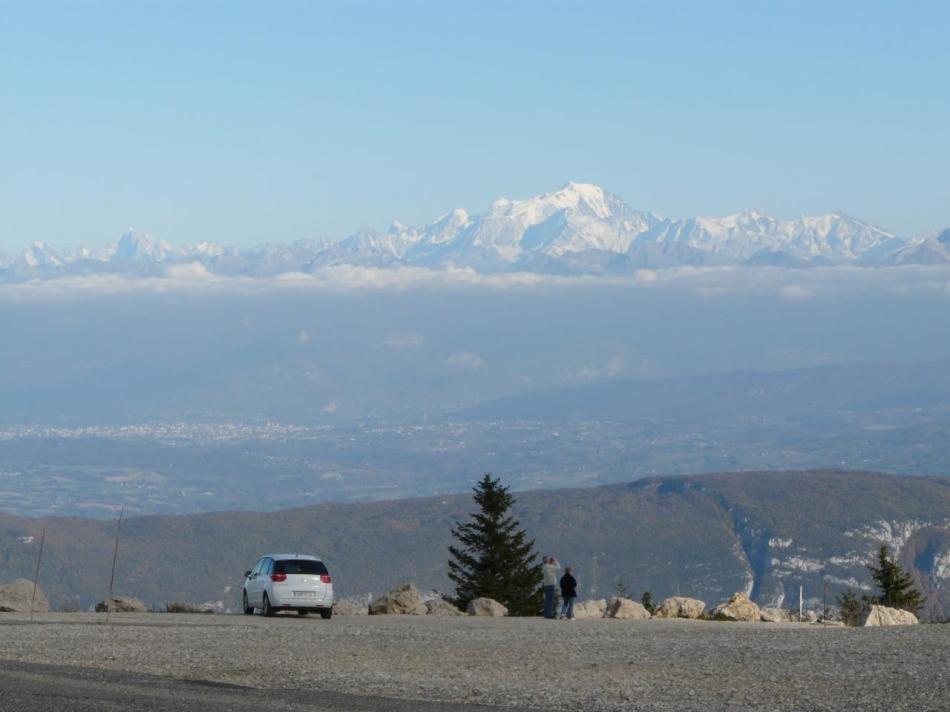 col du Grand Colombier, le massif du Mont Blanc