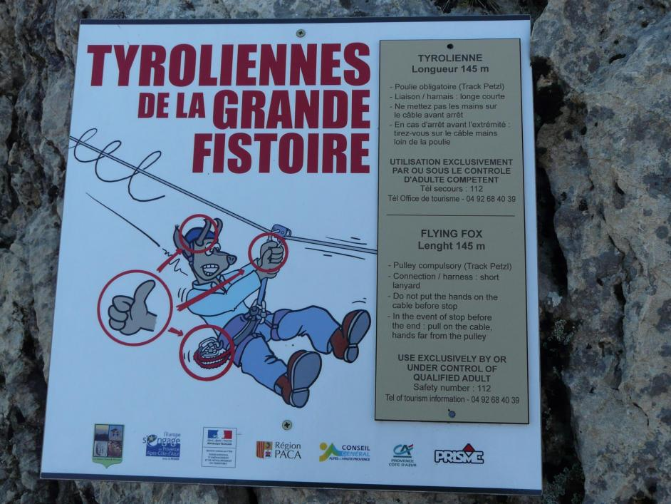 Tyroliennes de la grande Fistoire