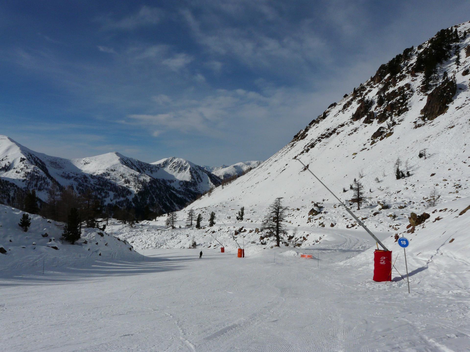 ski à Isola 2000