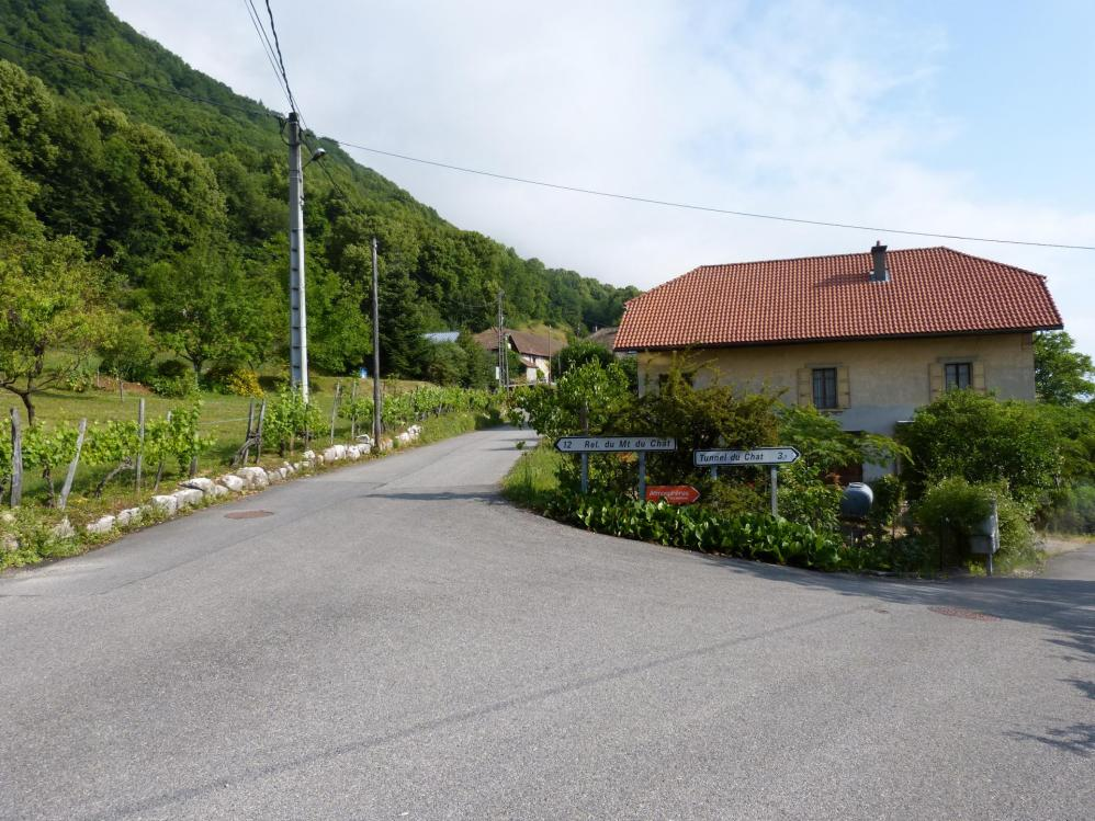 Départ de la montée réelle du Relais du Mont du Chat depuis Bourget du Lac