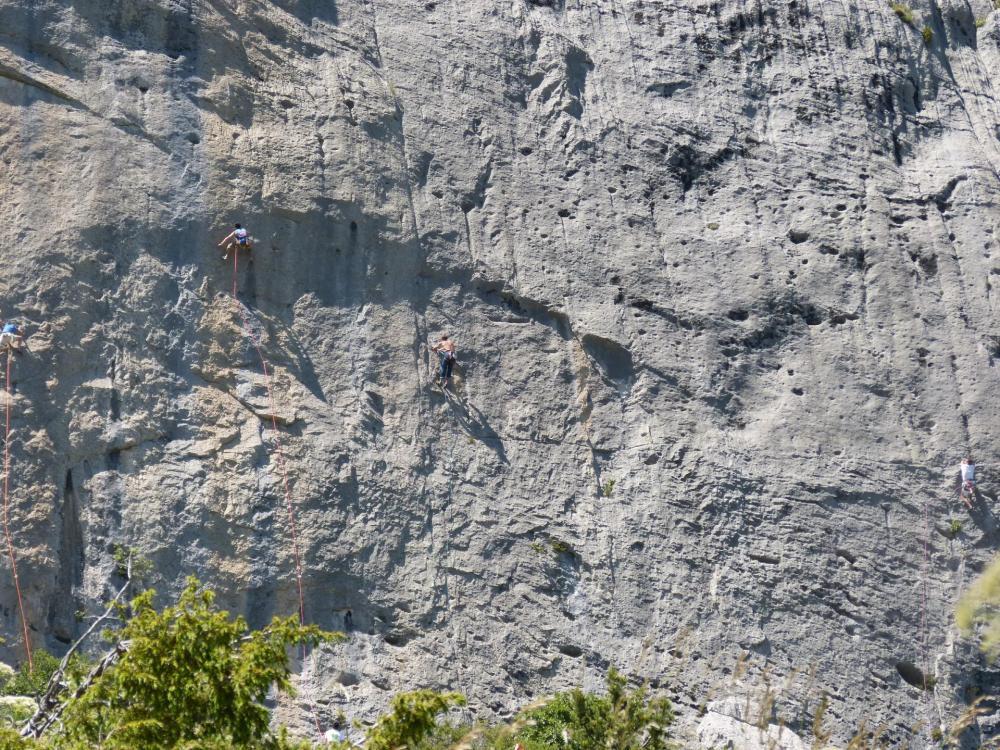 les efforts des grimpeurs pour gravir l'impossible sont impréssionants !