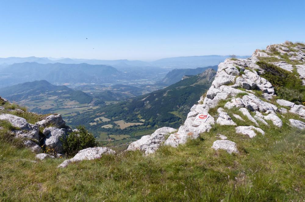 La sortie de la via ferrata sur la montagne de Céüze