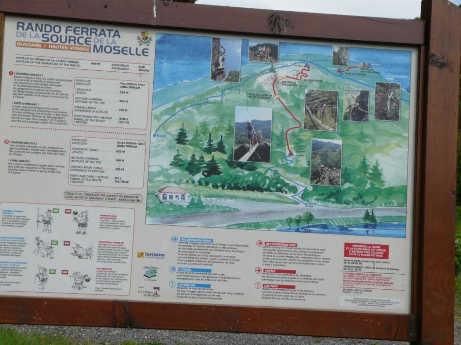 panneau d' info de la via des sources de la Moselle à Bussang