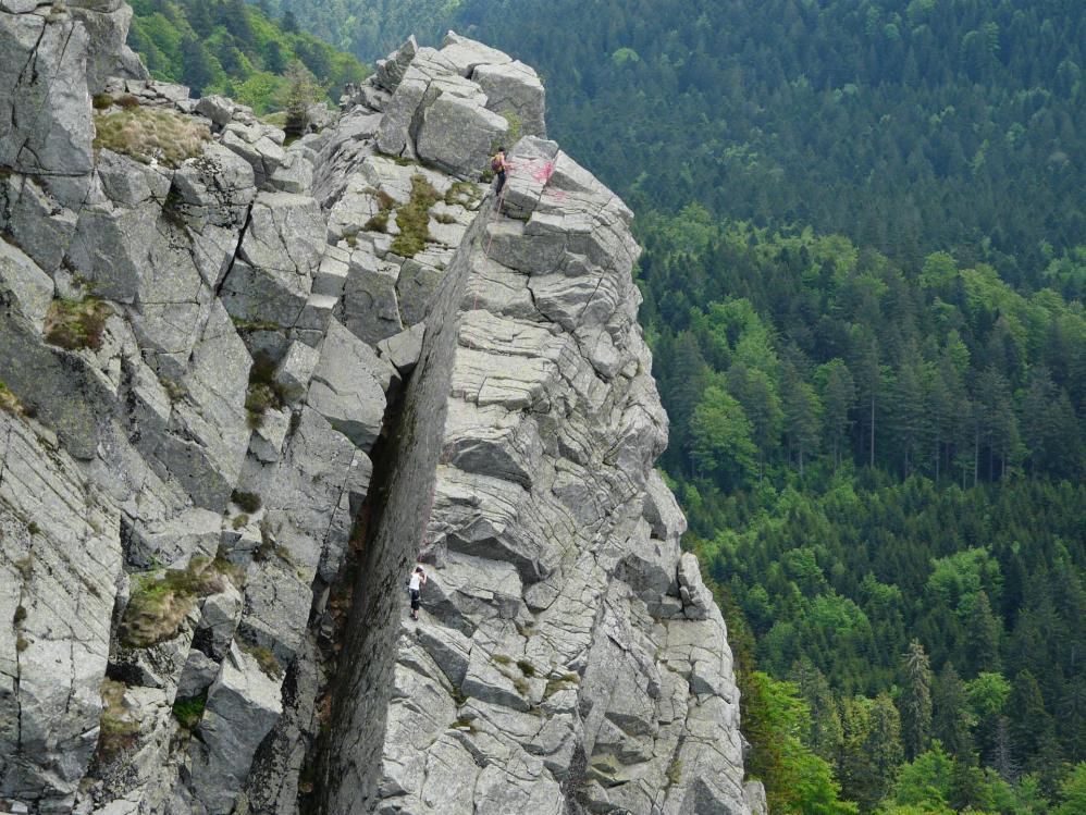 Le même grimpeur sous un autre angle