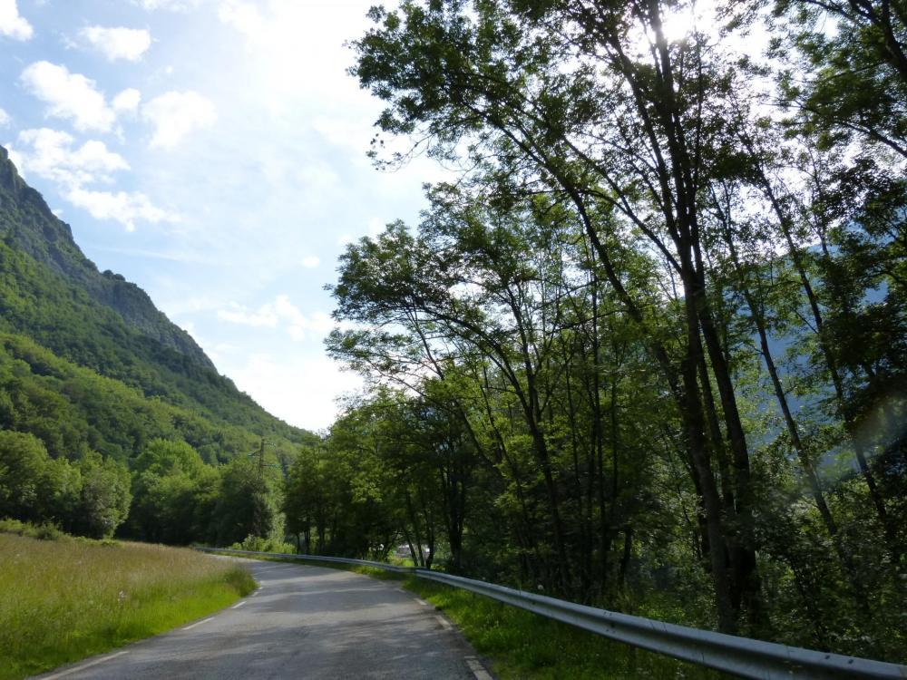 Au départ la montée est plutôt tranquille (St Firmin-Gioberney)