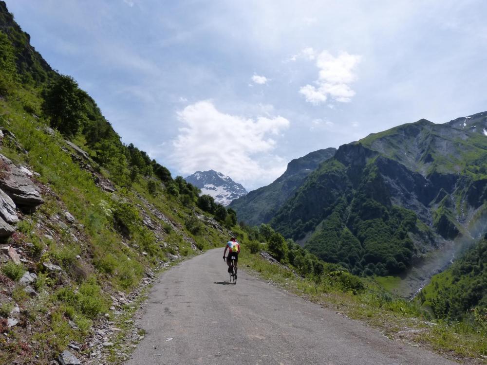 Montée du Gioberney, à trois km du sommet