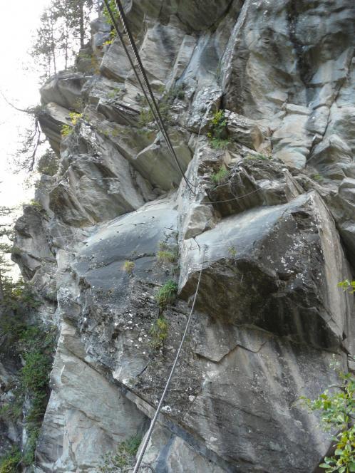 le pont de singe de la via de Pralognan