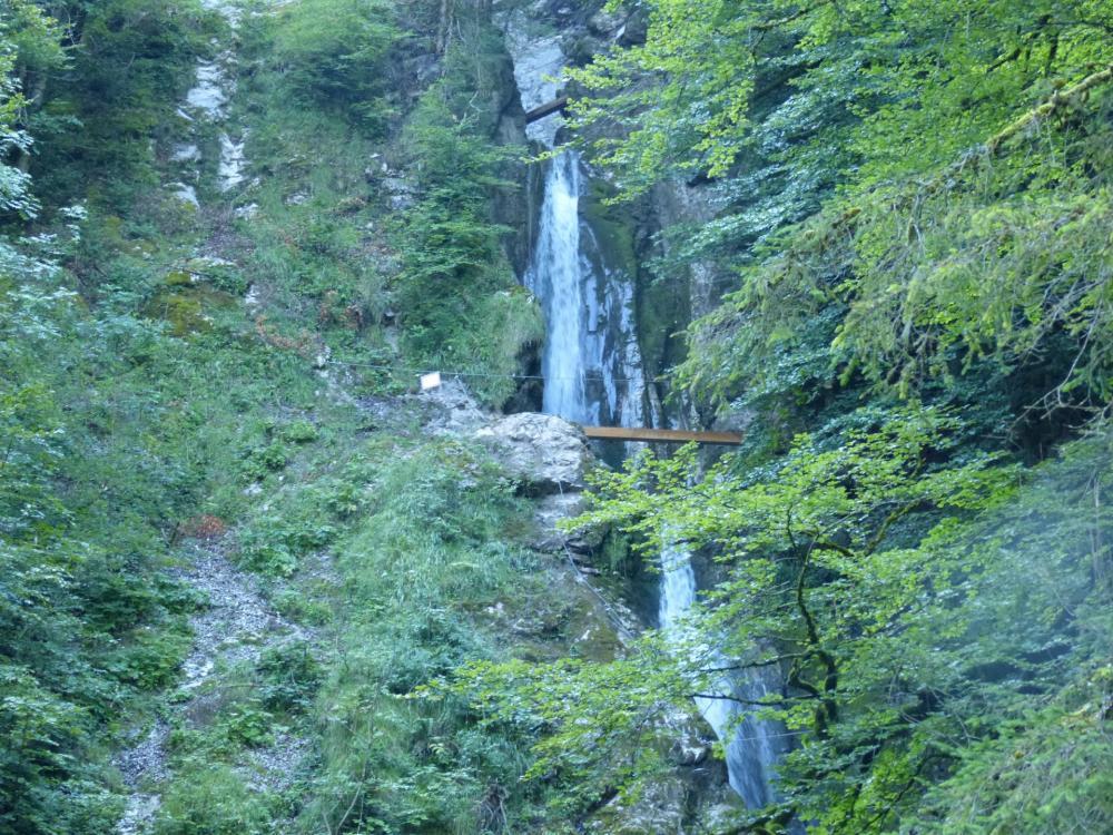 la via ferrata de la cascade des Nants à Bellevaux