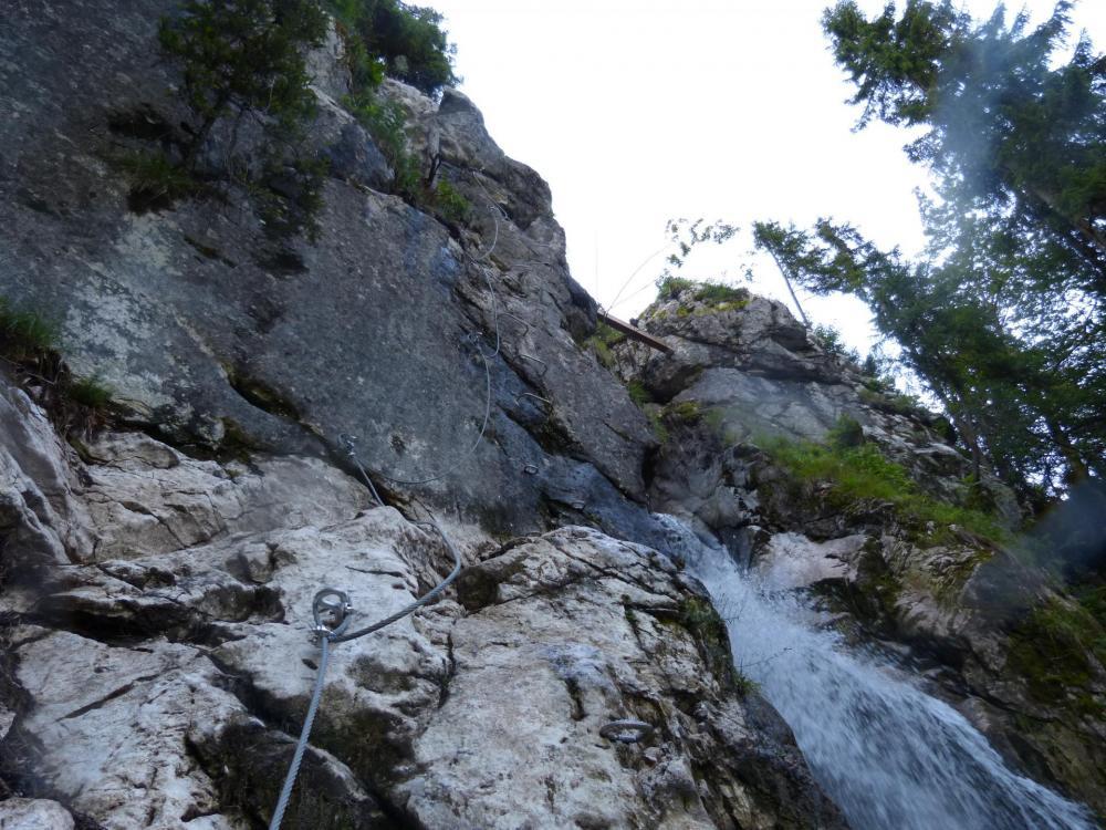Via de la cascade à Bellevaux, dernière partie verticale