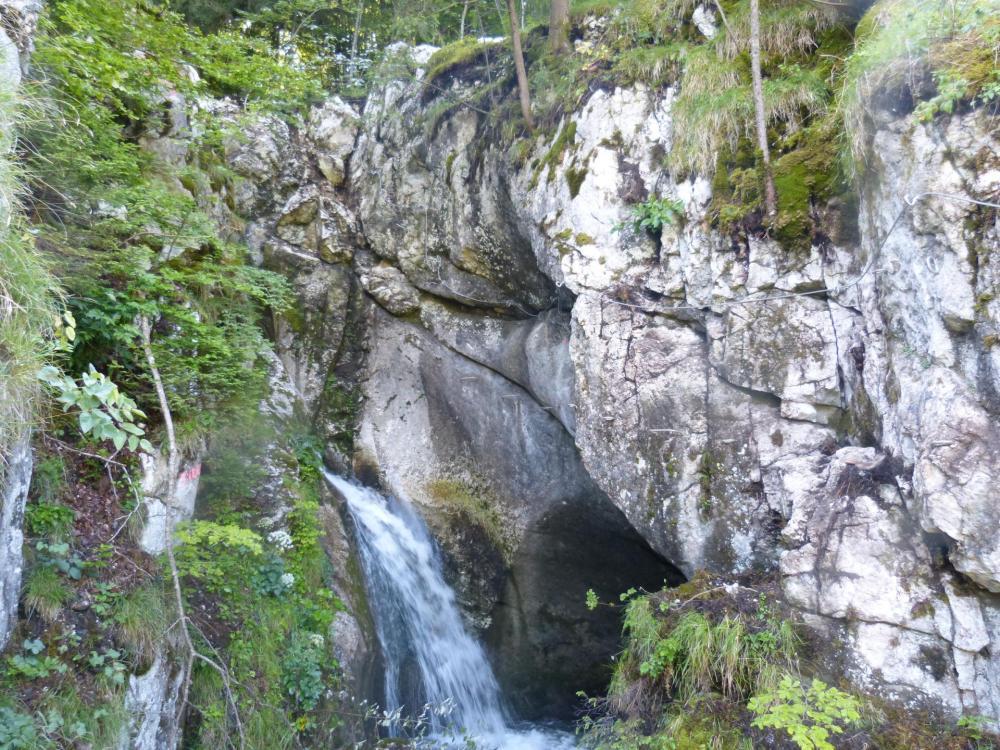 Via de la cascade à bellevaux, la dernière partie, plus en traversée