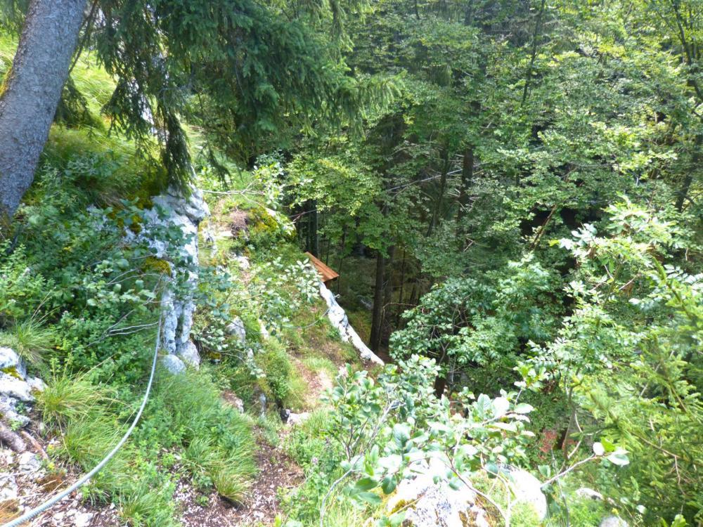 Fin des vias du Chatelard/Baume et arrivée sur la tyrolienne à Bellevaux