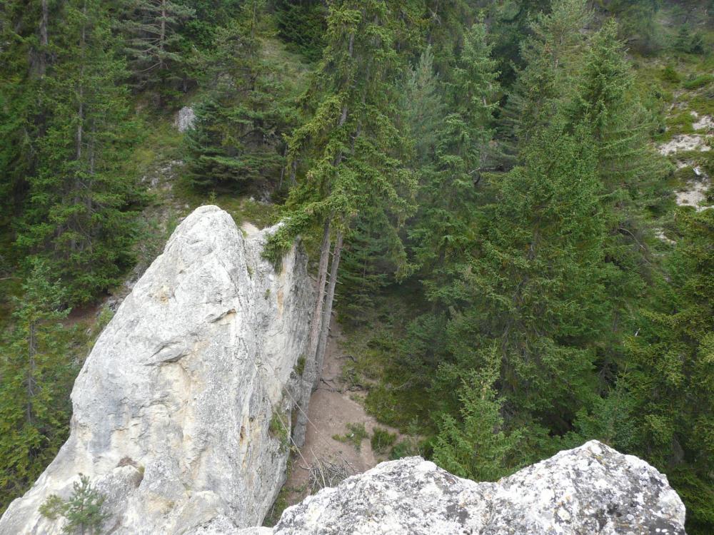Rocher de faible hauteur, parcours très ludique