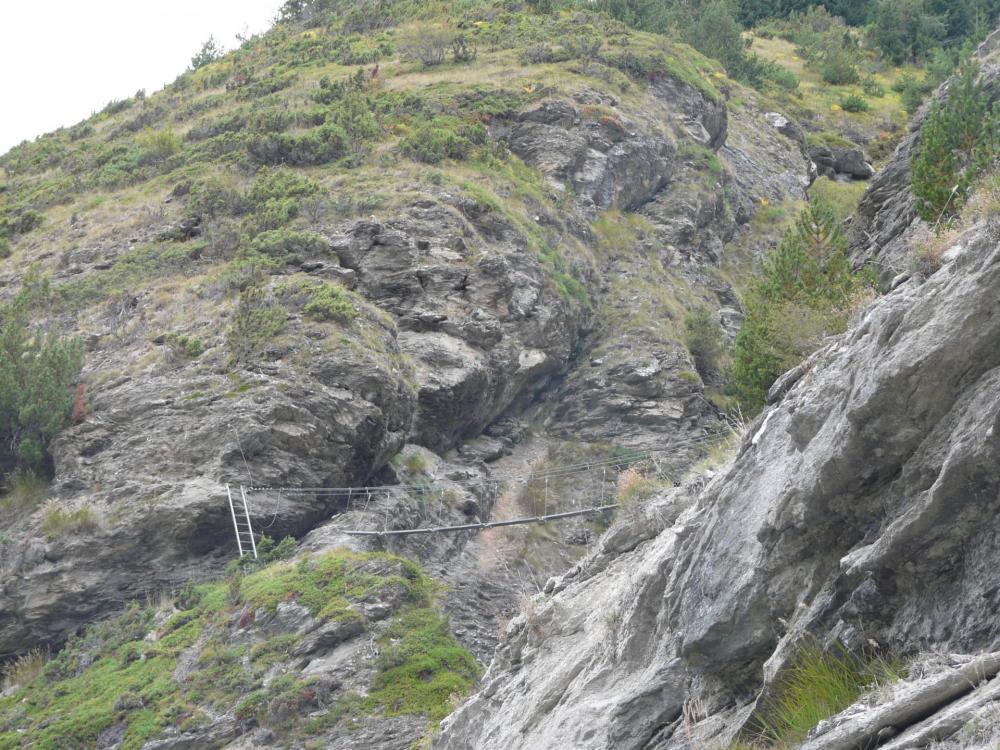 vue sur Lanslevillard depuis la via ferrata