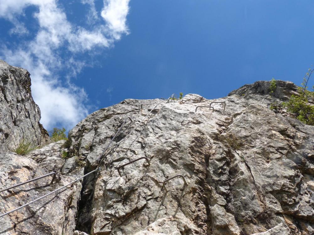 parcours 2 via du rocher du Bez, la partie finale